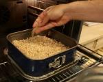 Малинов сладкиш с овесени ядки 6