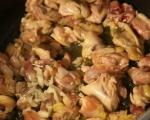 Пилешко с паста и домати по гръцки 3