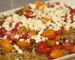 Пилешко с паста и домати по гръцки 8
