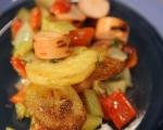 Салата от печени картофи 10