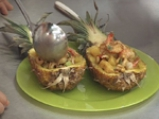 Тай скариди в кокосово мляко с ананас 4