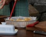 Обърнат кейк с круши и джинджифил 3