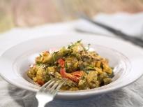 Печени зеленчуци с майонезен сос