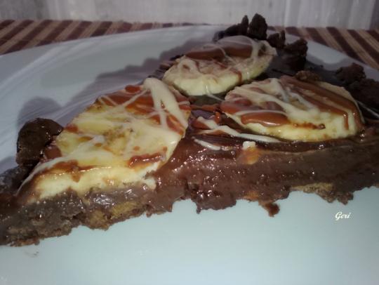 Тарт с шоколад и банани
