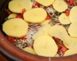 Печени миди с картофи и ориз 5