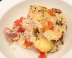 Печени миди с картофи и ориз 8