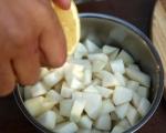 Терин от пилешко и кестени с пюре от круши  10