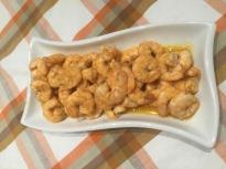 Скариди с портокалов сос