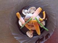 Печен джолан със зеленчуци