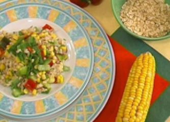 Овесена салата с царевица