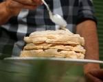 Целувчена торта с крем от кестени 8