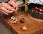 Супа с кестени, гъби и ечемик