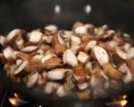 Супа с кестени, гъби и ечемик 7