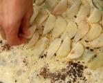 Руло от точени кори с круши и шоколад 5