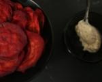Чипс от червено цвекло с таханов сос 5
