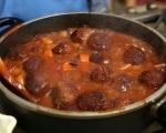 Постна зеленчукова яхния с кюфтета 7