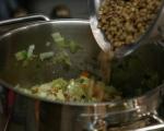 Лозови сарми с леща и ориз 4