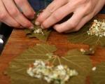 Лозови сарми с леща и ориз 5