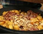 Печена пуйка с плънка от ябълки и орехи 4