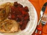 Пълнени пилешки гърди с гъби и домати