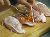 Пълнени пилешки гърди с гъби и домати 2