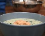 Супа от свинско със спанак 9