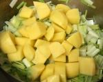 Крем супа с картофи и праз 2