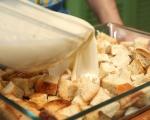 Хлебен пудинг с гъби 5