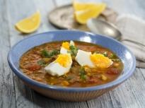 Супа от леща с пилешко