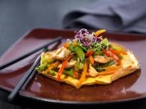 Омлет с пилешко и зеленчуци