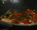 Омлет с пилешко и зеленчуци 5