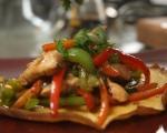 Омлет с пилешко и зеленчуци 7
