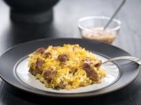 Тепси кебап с праз и ориз