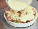 Тарта с тиквички и червени домати 6