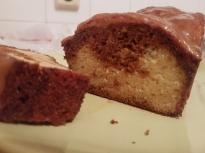 Двуцветен карамелен кекс