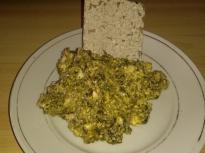 Здравословен обяд с лапад, яйца и извара
