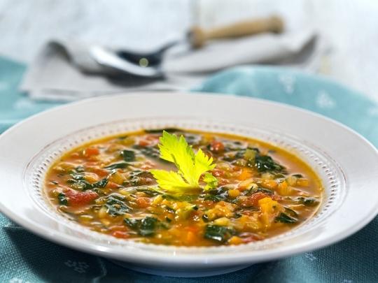 "Зеленчукова супа с паста ""Орзо"""