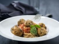 Спагети с кюфтета от нахут