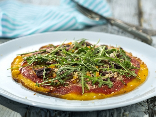 Вегетарианска царевична пица