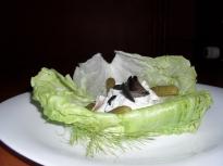 Предястие от коремчета на пушена сьомга