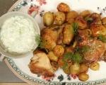 Пилешки бутчета с пресни картофи 11