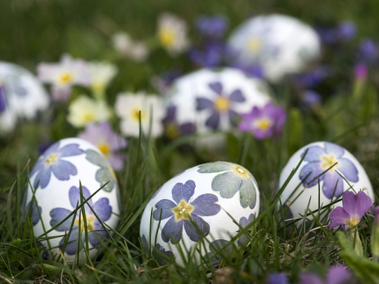 Цветни яйца