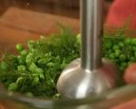 Руло от агнешки гръб със зелена плънка 10