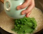 Руло от агнешки гръб със зелена плънка 13