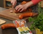 Пай с наденица и картофено пюре