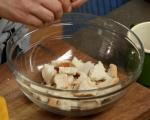 Хлебен пудинг с шоколад и стафиди