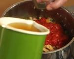 Крем супа с боб и домати 2