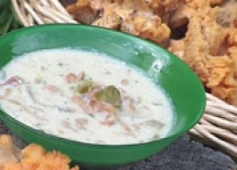 Супа от пачи крак с естрагон и сметана