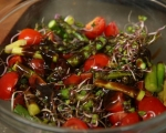 Салата от аспержи и чери домати 6