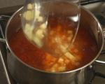 Супа с чоризо, картофи и спанак 3